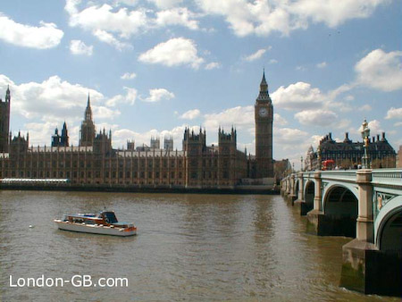 River Thames and Houses of Parliament, with Big Ben