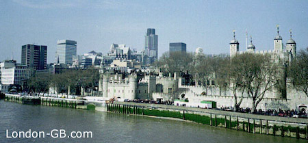 Tower of London and NatWest Tower from Tower Bridge