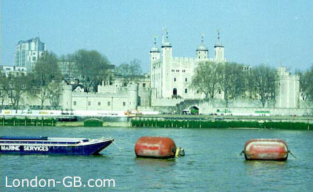 Tower of London from across the Thames