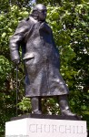 Winston Churchill statue in Parliament Square