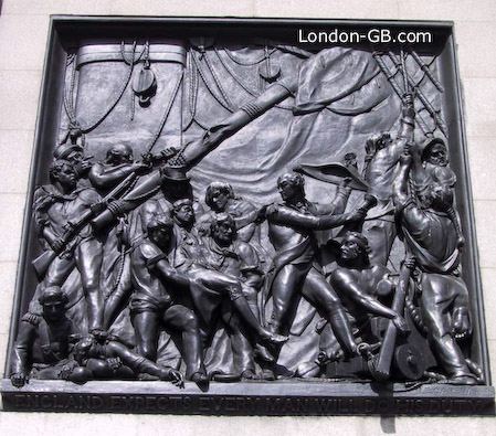 Battle of Trafalgar on Nelson's column